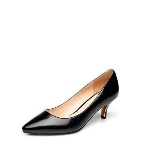 达芙妮专柜正品甜美浅口PU皮通勤尖头女单鞋1715101910