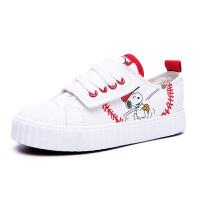 史努比童鞋春秋新款儿童运动鞋女童休闲鞋学生跑步鞋板鞋