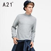 以纯A21男士2017新款毛衣长袖针织衫男