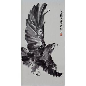 陈玉圃  雄鹰展翅