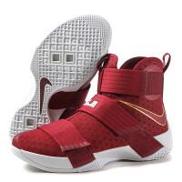 nike耐克 新款男鞋詹姆斯10战士战靴篮球鞋运动鞋篮球844375-668