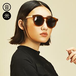 音米新款板材复古太阳镜偏光镜男驾驶镜 明星同款墨镜女潮2016 AASBBY202