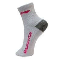 李宁LINING运动袜 AWSL234 专业羽毛球运动袜 女士中袜