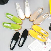 匡王2017新款一脚蹬懒人鞋女学生帆布鞋韩版休闲鞋单鞋透气女鞋