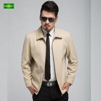 逸纯印品(EASZin)男士夹克衫 中年 短款 翻领 秋季休闲 男装外套