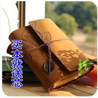 CBD 皮革质封面旅行活页本 笔记本记事本日记本子铜饰绑带复古
