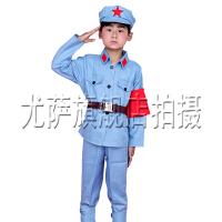 男女款儿童服装舞蹈服小红军表演服八路军装解放幼儿演出服舞台军装儿童舞蹈表演服