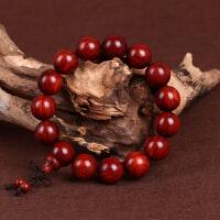 缘饰传说 小叶紫檀佛珠手串品相好同料顺纹大料男女木质手链
