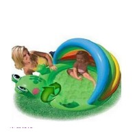 满百包邮INTEX57416-青蛙婴儿水池 充气水池 充气玩具 儿童趣味嬉水水池