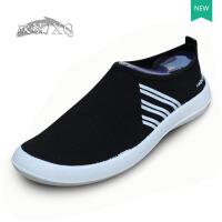 XQ/欣清春夏季品牌男鞋休闲鞋运动韩版一脚蹬透气网面鞋懒人鞋子