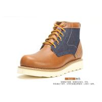 Dickies马丁靴男秋季男士靴子中筒韩版真皮沙漠靴潮流户外皮靴男153XG07AP10