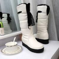 彼艾2012雪地靴女长靴冬季平跟平底高筒女靴厚底中筒靴加绒棉鞋女