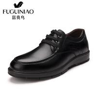 富贵鸟商务休闲时尚百搭头层牛皮系带男皮鞋