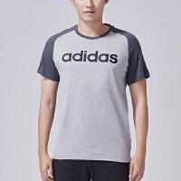 adidas阿迪达斯NEO男装短袖T恤2017年新款运动服BK6921