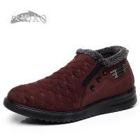 欣清冬季新款老北京布鞋男鞋棉鞋时尚休闲加绒男靴短靴