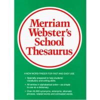 M-W's School Thesaurus 韦氏学生同义词词典(适合中学生,14岁以上) ISBN 9780877791782