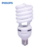 飞利浦节能灯大功率螺旋型80W/E40冷白色4000K微黄光节能光源高亮度灯管荧光灯