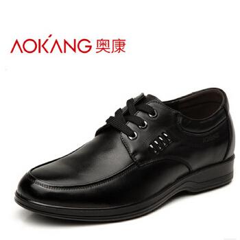 奥康 新款增高鞋商务休闲男鞋 头层内增高皮鞋男式单鞋