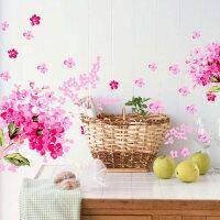 宜美贴  绣球花 客厅卧室背景墙浪漫装饰可移除墙贴纸
