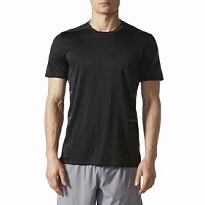 adidas阿迪达斯男装短袖T恤2017新款跑步运动服BK0277