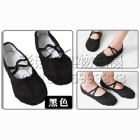 女童芭蕾舞鞋成人舞蹈鞋女软底练功鞋瑜伽鞋春季形体鞋帆布跳舞鞋