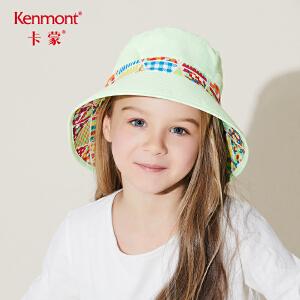 卡蒙6-9岁折叠帽子遮阳帽儿童女宝宝防晒太阳帽透气户外防紫外线4784