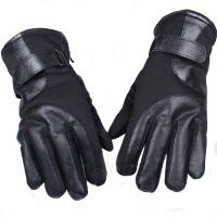 新款时尚韩版男士手套全指防滑保暖手套 户外摩托车单车骑行手套冬季冬季防寒保暖骑车防寒套7002