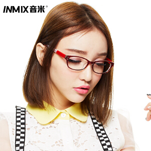 Inmix音米 时尚个性近视眼镜框 女款潮板材眼睛框镜架 男 配眼镜2226