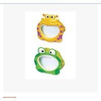 INTEX趣味面具游泳镜 戏水玩具 青蛙和河马造型 潜水镜
