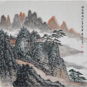 周华耀《访友图》中国美术家协会会员