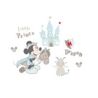 【全店支持礼品卡】正版迪士尼正品墙贴卡通米奇装饰贴儿童房粉色花朵背景装饰墙纸