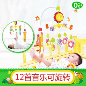 Auby澳贝 新生婴儿 迪迪兔床铃 旋转床头摇铃 0-3-6个月 宝宝音乐玩具