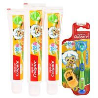 [当当自营] 高露洁Colgate 妙妙刷儿童牙膏(2-5岁) 香橙味40g*3+妙妙刷儿童牙刷