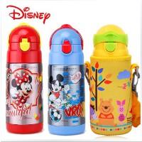 迪士尼儿童保温杯带吸管 不锈钢可爱杯子小学生宝宝水杯