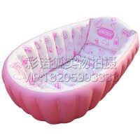 环保加厚安全舒适款婴儿充气浴盆健康洗澡盆环保持久保温防磕可折叠新生儿泳池