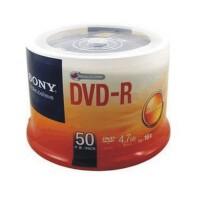 陆捌壹肆 索尼刻录盘 SONY空白光盘 索尼 DVD-R 50片桶装刻录光盘 1桶装