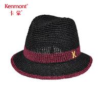 卡蒙大沿遮阳帽户外帽子防晒海边沙滩帽女度假英伦草帽夏天小礼帽3495
