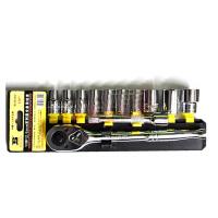 波斯工具 汽修12件12.5MM六角公制系列塑夹套筒组套1/2