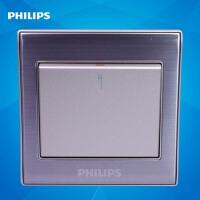 飞利浦墙壁开关插座面板金属系列Q8 211 一位单开单控单极开关