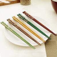 【可货到付款】欧润哲 10对柯木筷子套装 厨房手工实木筷子 料理尖头筷
