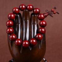 缘饰传说 小叶紫檀佛珠手串 老料顺纹高密超油润手链 男女款木质手链
