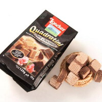 [当当自营] 奥地利进口 莱家 Loacker 粒粒装威化饼(黑巧克力味)125g