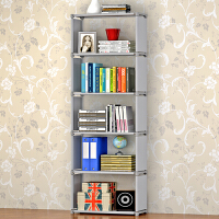 蜗家 加高简易书架 架子 实用书橱 收纳架 收纳柜 自由组装置物架儿童书柜sj06
