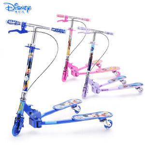 迪士尼儿童蛙式滑板车三轮闪光剪刀车踏板车小孩扭扭车宝宝摇摆车