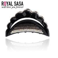皇家莎莎Royalsasa时尚人造水晶皇冠发夹抓夹 大号满钻发饰 韩版头饰配饰品05SP080
