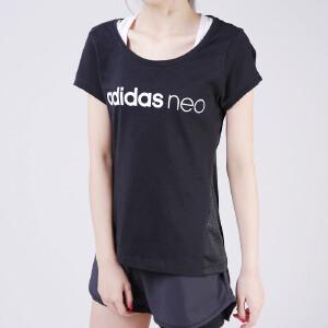 阿迪达斯NEO2017新款女短袖T恤CF6178