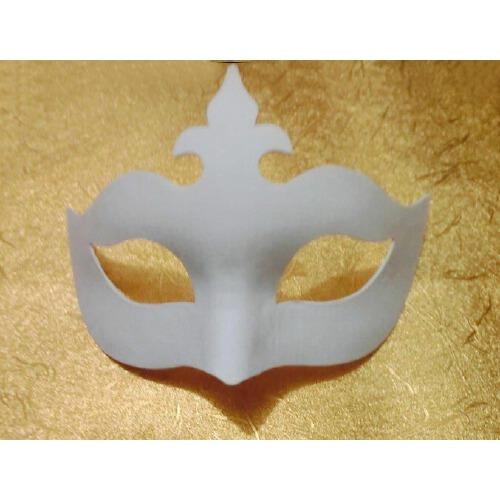 白色手绘面具diy环保纸浆面具佐罗