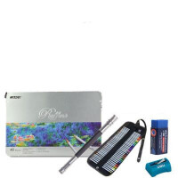 马可7100-48色5件套 填色彩铅 铁盒油性彩铅彩色铅笔彩色素描铅笔套装 笔触细腻