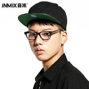 INMIX音米复古木腿眼镜框可配近视眼镜架女 时尚板材眼镜框镜架男2408