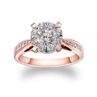 先恩尼 女戒 红18k 玫瑰金 钻戒 群镶克拉钻效果 女款钻石戒指 HFGCHZ025恋之情深